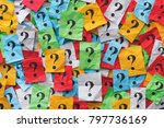 too many questions. colourful... | Shutterstock . vector #797736169