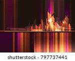 abstract modern night city... | Shutterstock . vector #797737441