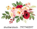 flower bouquet with red and... | Shutterstock . vector #797740597