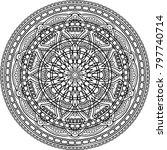 figure mandala for coloring... | Shutterstock .eps vector #797740714