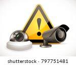 cctv symbol   security camera... | Shutterstock .eps vector #797751481