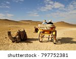 An Elderly Couple In A Horse...