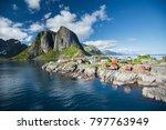 scenic lofoten in norway | Shutterstock . vector #797763949