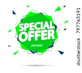 special offer  sale tag  banner ... | Shutterstock .eps vector #797765191