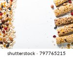 granola bar and ingredients.... | Shutterstock . vector #797765215
