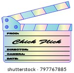 a typical movie clapperboard...   Shutterstock .eps vector #797767885