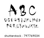 vector fonts   handwritten...   Shutterstock .eps vector #797769034