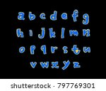 vector fonts   handwritten... | Shutterstock .eps vector #797769301