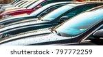 luxury cars for sale stock lot... | Shutterstock . vector #797772259