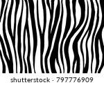 zebra print. vector artwork.... | Shutterstock .eps vector #797776909