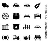 origami style icon set   car... | Shutterstock .eps vector #797781811