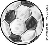 soccer ball isolated on white... | Shutterstock .eps vector #797784211