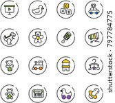 line vector icon set  ... | Shutterstock .eps vector #797784775