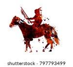 vector watercolor silhouette of ... | Shutterstock .eps vector #797793499