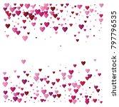 valentines day vector confetti... | Shutterstock .eps vector #797796535