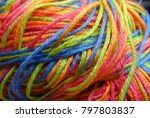 yarn color background  | Shutterstock . vector #797803837