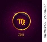horoscope. zodiac icon. | Shutterstock .eps vector #797806027