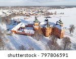 aerial view during the winter... | Shutterstock . vector #797806591