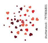 vector confetti background... | Shutterstock .eps vector #797806801