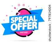 special offer  easter sale tag  ... | Shutterstock .eps vector #797814004