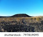 Amboy Crater in the early morning light of a beautiful October morning