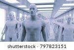 3d rendering. humanoid head and ... | Shutterstock . vector #797823151