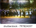 ussr  leningrad   circa 1982 ... | Shutterstock . vector #797824357