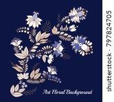 stock vector abstract flower... | Shutterstock .eps vector #797824705