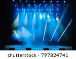 free stage with lights ... | Shutterstock . vector #797824741