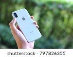 bangkok thailand   iphone x... | Shutterstock . vector #797826355