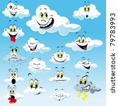 clouds with many expressions | Shutterstock .eps vector #79783993