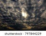 Small photo of Black Altocumulus cloud
