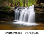 Table Rock State Park SC Waterfalls Carrick Creek Nature Landscape Flowing Water - stock photo