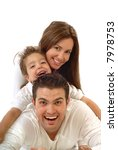 excited  happy young family in... | Shutterstock . vector #7978753