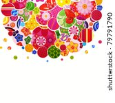 background with floral and... | Shutterstock . vector #79791790