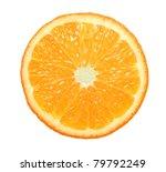 Slice Of Orange On White...