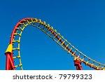 a segment of a roller coaster... | Shutterstock . vector #79799323