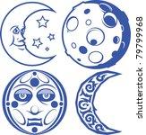 moons | Shutterstock .eps vector #79799968