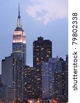 skyline of midtown manhattan... | Shutterstock . vector #79802338