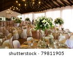 indoors wedding reception venue ... | Shutterstock . vector #79811905