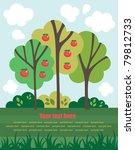 cute fairytale landscape.... | Shutterstock .eps vector #79812733
