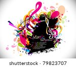 musical theme disco background...