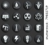 energy icon on round black and...   Shutterstock .eps vector #79832719