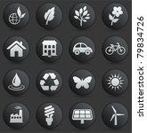 environment icon on round black ... | Shutterstock .eps vector #79834726