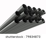 group metal pipe on a white... | Shutterstock . vector #79834873