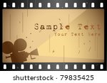 illustration of film strip... | Shutterstock .eps vector #79835425