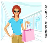 illustration of urban lady... | Shutterstock .eps vector #79835452