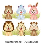 animal collection part 1 | Shutterstock .eps vector #79838908