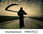 grim reaper on the road   Shutterstock . vector #79847011