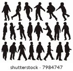 vector silhouettes of boys in... | Shutterstock .eps vector #7984747